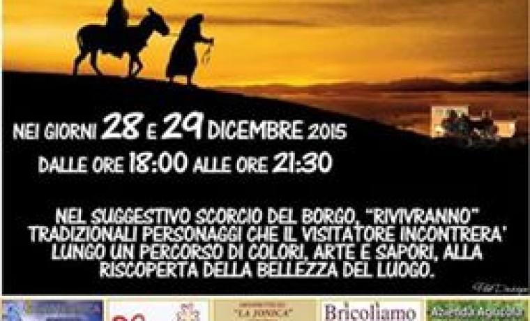 Presepe vivente nella Parrocchia di San Giulio I Papa, Terzo Cavone – 2015