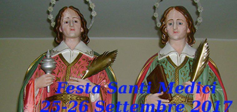 Programma festa dei Santi Medici   25-26 settembre 2017
