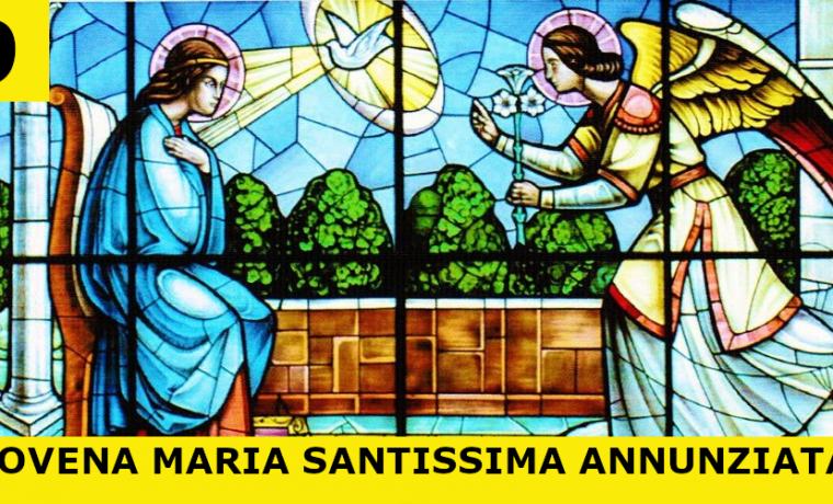 30-04-2020 – Nono Giorno – Novena a Maria Santissima Annunziata